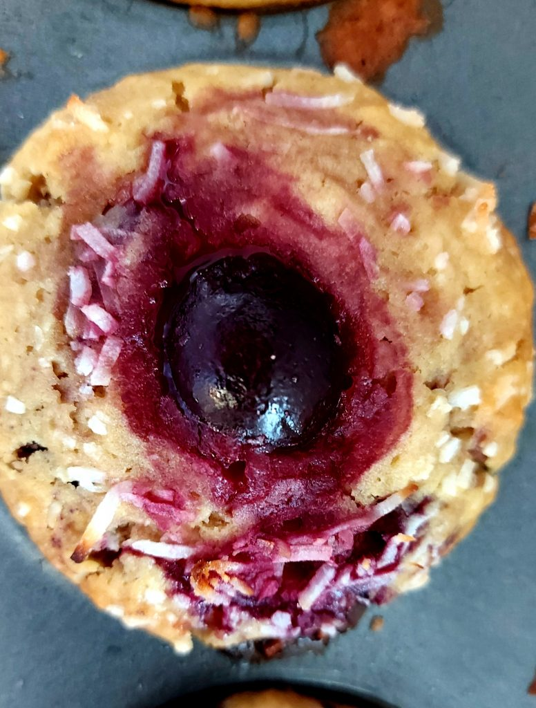 The best dairy free cherry coconut muffins!